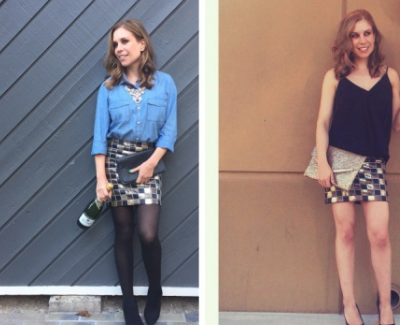 One Skirt, Two Looks for NYE!